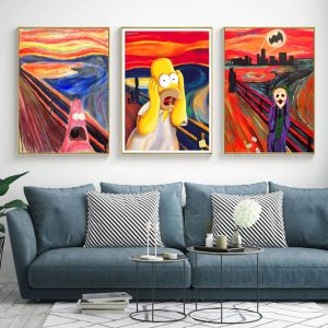 obras de arte para decorar simpson