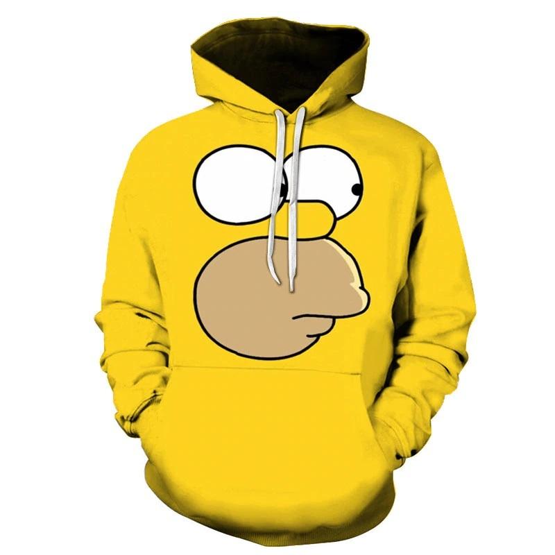 sudadera con capucha de los simpson para hombre homero amarillo